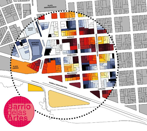 Mapa Barrio de las artes