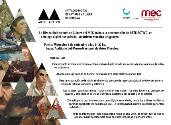 catálogo de artistas visuales de Uruguay
