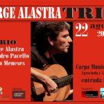 JORGE ALASTRA TRÍO se presenta este VIERNES 22 AGOSTO 20:30HS :: en el marco del Programa Fortalecimiento de las Artes