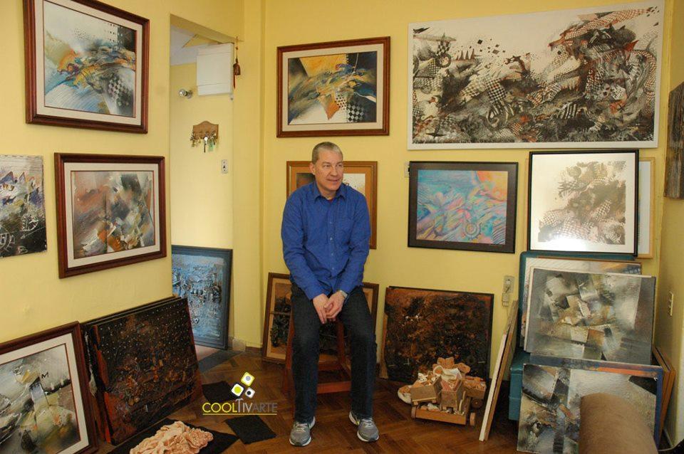 Visitando el taller del artista Claudio Tamosiunas - Setiembre 2012 © Federico Meneses