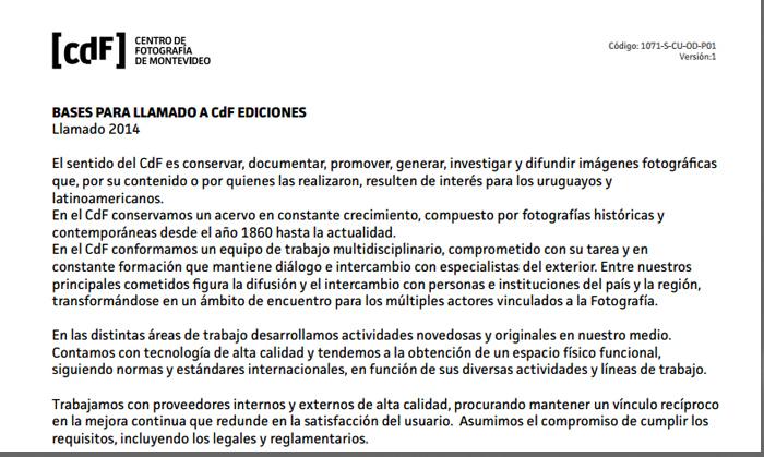Llamado CdF Ediciones 2014