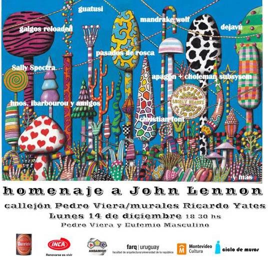 imagen - Homenaje a John Lennon en Callejón Pedro Viera. Diciembre 2009 © Federico Meneses