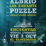 """«AYER LA LLUVIA"""" CON LES ENFANTS, PUZZLE Y ALBRIO (Arg)  EN EL TARTAMUDO.       Encuentro musico/literario"""