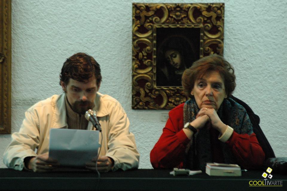imagen - Onetti, la ciudad y los libros en el MuHAr - María Angélica Petit. Horacio Cavallo - Agosto 2009 - © Federico Meneses