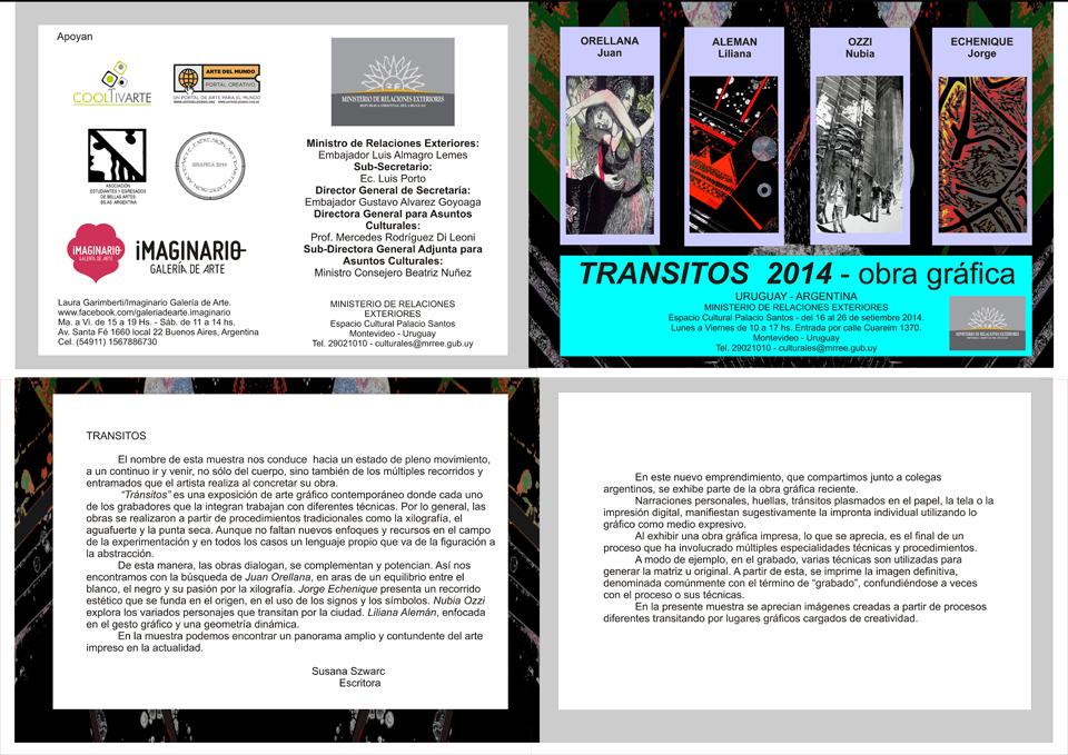 Transitos 2014 - exposición