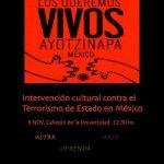 INTERVENCIÓN CULTURAL CONTRA EL TERRORISMO DE ESTADO EN MÉXICO
