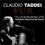 Claudio Taddei presenta «InTuiTiVo» en el Sodre