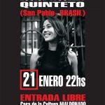 LOUISE WOLLEY QUINTETO – 21 ENERO 22HS – Casa de la Cultura de Maldonado – ENTRADA LIBRE