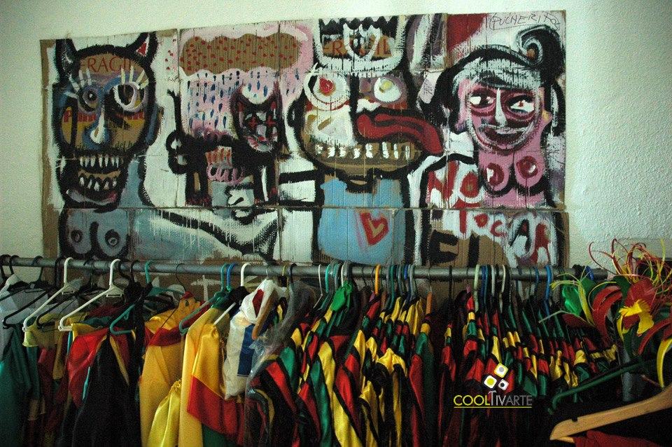 imagen - Visitando el taller Enanas de Jardín en producción de vestuario para la comparsa Kiamba. Febrero 2011 © Federico Meneses
