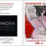Vernissage Rosemarie Allers, viernes 16 en Espacio de arte INNOVA