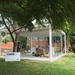 Inauguración Pabellón de Cristal en el jardín del MNAV