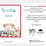 """Libros de la Arena y ¡Más Pimienta! presentan el libro """"Yo, autor"""""""
