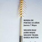 RONDA DE POETAS / jueves 7 / 21 a 24 hs. / nelson DIAZ – jairo ROJAS – nelson TRABA – barea MATTOS