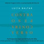 Presentación Libro Contrapeso Contraverso – Lucía Baltar; Participación especial de Paula de Alba