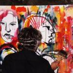 """Claudio Taddei  presentó """"Presencias"""" – Exposición de arte """"PaintMusicLive"""" ( II )"""