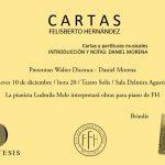Libro de cartas y partituras musicales de Felisberto Hernández