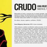 Muestra CRUDO de Daniel Melgarejo, se extiende hasta el 17 de febrero en ESPACIO IMPO