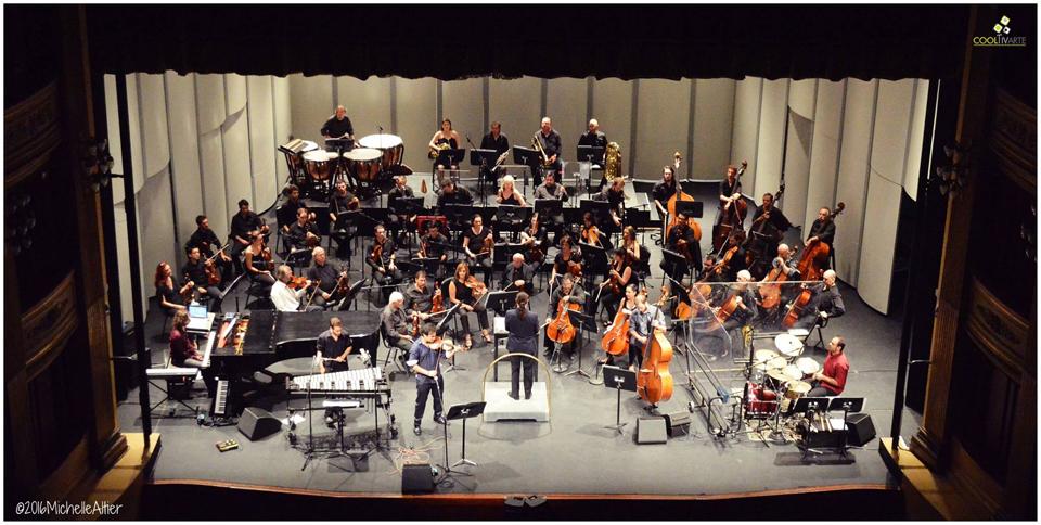 Orq. Filarmónica de Montevideo +Federico Nathan Quinteto foto michelle altier