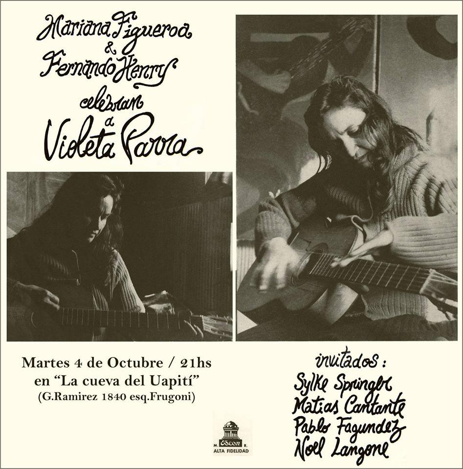 Mariana Figueroa - Fer Henry - La cueva de Uapitì - 04 octubre 2016- Foto de portada - Afiche promocional.