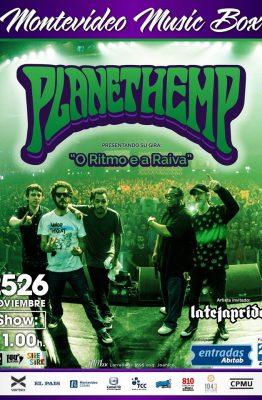 Planet Hemp en vivo - Montevideo Music Box - 25 y 26 de noviembre de 2016