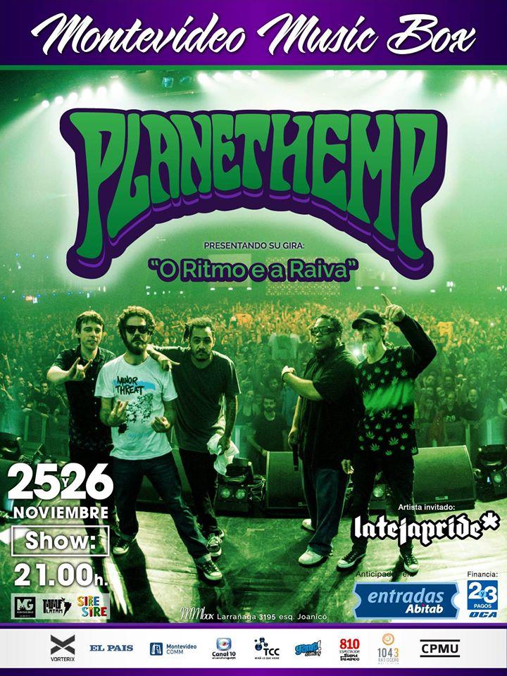 Planet Hemp en vivo - Montevideo Music Box - 25 y 26 de noviembre de 2016
