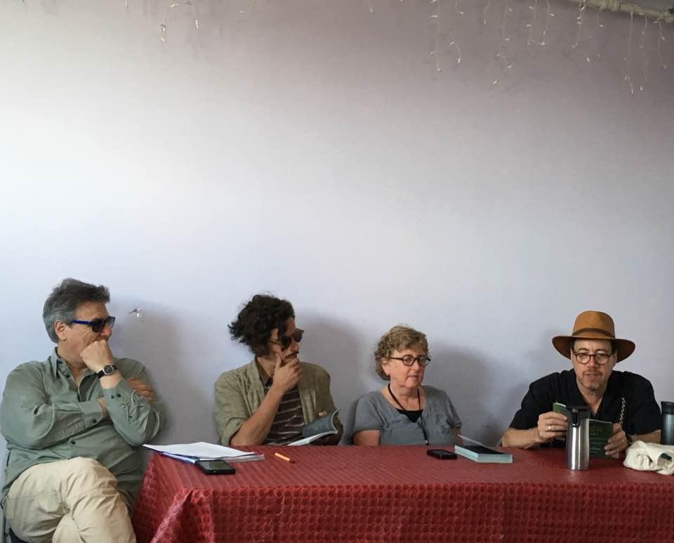 Luis Bravo y Martín Barea Mattos que se encuentran en New Orleans Poetry Festival 2017