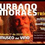 Urbano Moraes con Martín Ibarburu y Ricardo Nolé