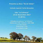 Pablo Parodi presenta el disco He de Volver