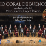 Estudio Coral de Bs As dirigido por Carlos López Puccio | 5 dic. Teatro Solís