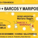 Ajó + Barcos y Mariposas en Sala Zitarrosa- 25 de noviembre en la Sala Zitarrosa.