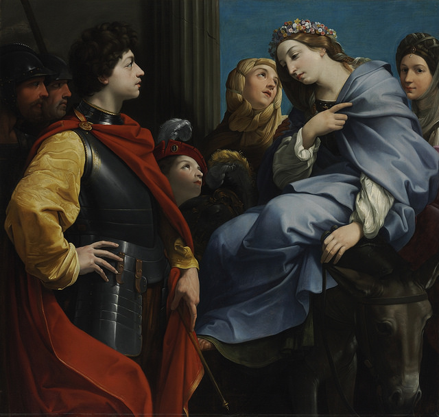 Guido Reni - David and Abigail por Museo Nacional de Bellas Artes