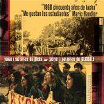 """INVITACIÓN AL CINE FORO """"1968 – 2018 cincuenta años de lucha – 10 años de Globale"""" FECHA DEFINITIVA : 17 de mayo 19h30 en el IAVA"""