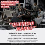 """""""Querido Mario"""" sobre textos de Mario Benedetti"""