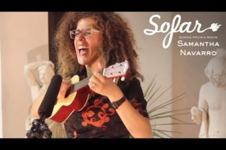 "Samantha Navarro performing ""Tren Fantasma"" at Sofar Montevideo"