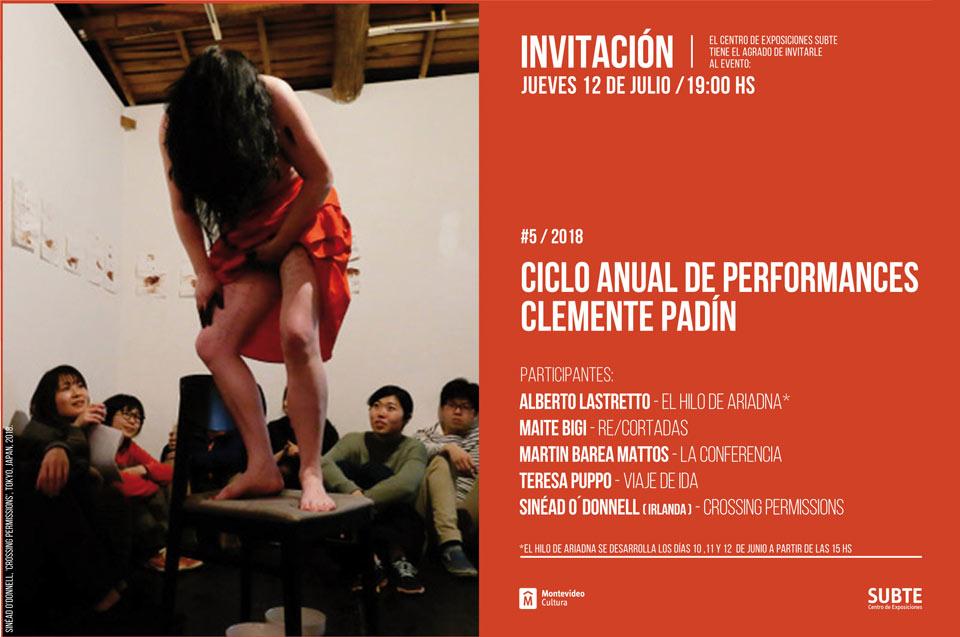 5ta entrega del Ciclo de performances Clemente Padín