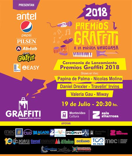 Ceremonia Lanzamiento de Premios Graffiti 2018 en Sala Zitarrosa
