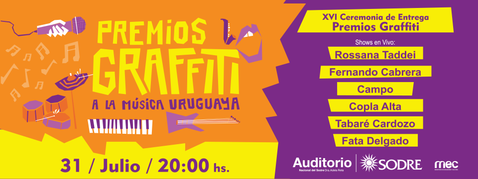 shows Premios Graffiti en el Auditorio Nacional del Sodre