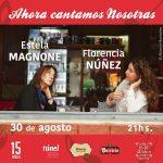 Estela Magnone y Florencia Núñez en concierto