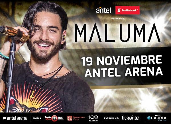 MALUMA VUELVE A MONTEVIDEO Lunes 19 de Noviembre, 21:00 hs. Antel Arena