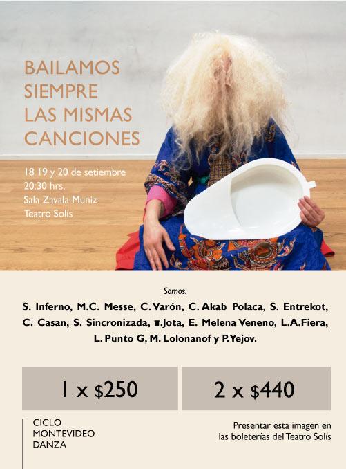 BAILAMOS SIEMPRE LAS MISMAS CANCIONES / 18, 19 y 20 de setiembre / Ciclo Montevideo Danza