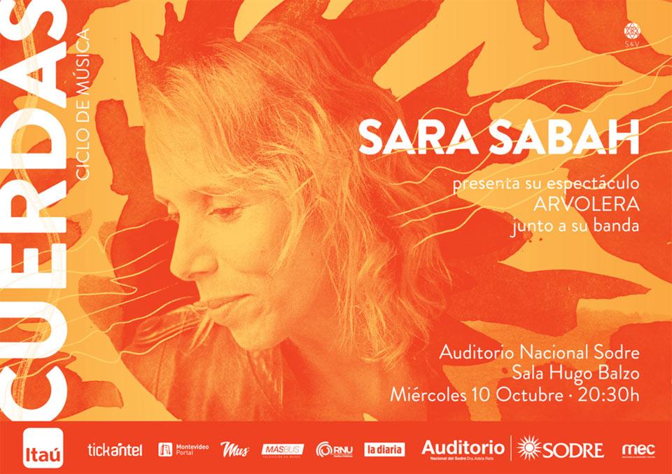 Ciclo Cuerdas presenta a SARA SABAH junto a su banda en · ARVOLERA·