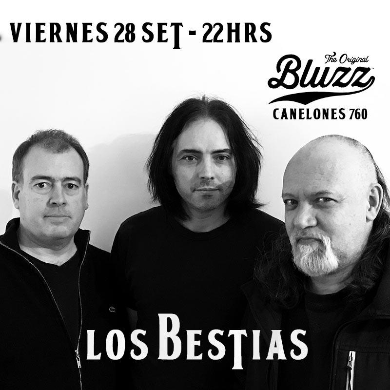 Los Bestias. Tabaré Rivero – voz, bajo Alejandro Ferradás – voz, guitarra Andrés Burghi – percusión Viernes 28 de Setiembre 22 hrs Bluzz Bar Canelones 760 Montevideo