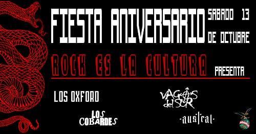 Fiesta Aniversario de Rock es La Cultura Bar