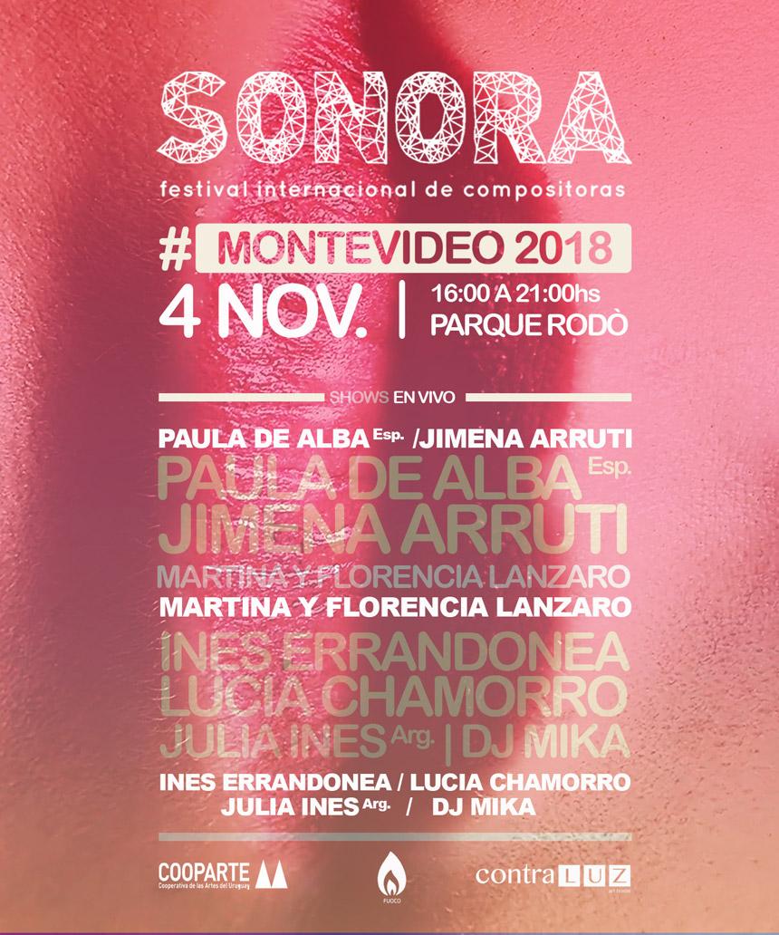 """""""Sonora - Festival Internacional de Compositoras"""" es un festival internacional creado en Brasil con el objetivo principal de mostrar e incentivar la fuerza de la mujer compositora."""