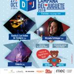 Campaña del Juguete 2018 con Dastin & Los Indios de Siempre, Micaela Schlieper y Ontario