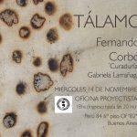 Fernando Corbo inaugura TÁLAMO, en Oficina Proyectista Bs.As.