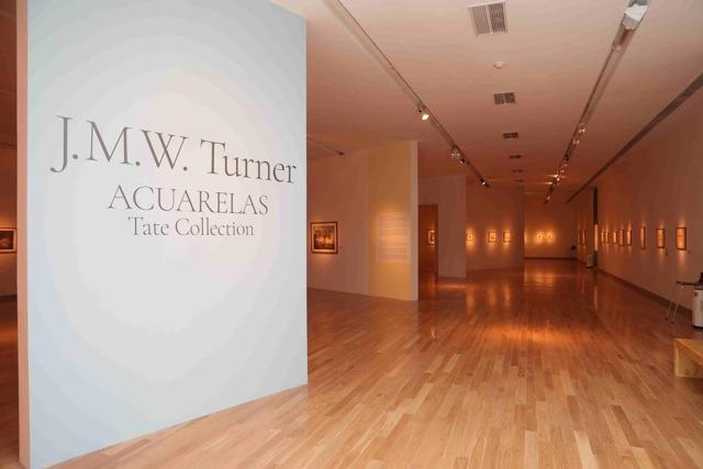 Vista de sala - Acuarelas William Turner . Foto Gustavo Cantoni. Cortesia MNBA