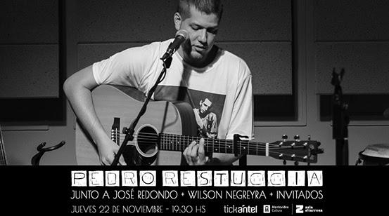 Pedro Restuccia se presenta el próximo jueves 22 de noviembre en el escenario del Espacio Felisberto Hernández (Sala Zitarrosa) en formato trío, junto a José Redondo en piano y Wilson Negreyra en congas y voces.