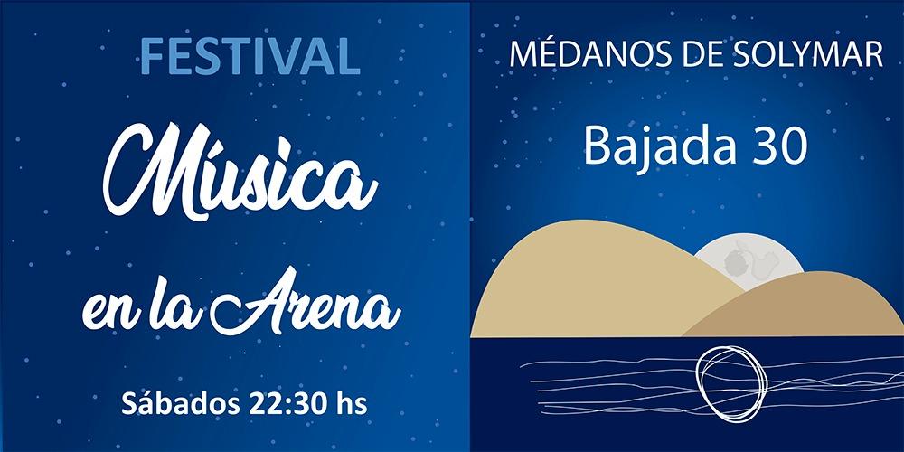 Festival Música en la Arena - l show será el marco del festival Música en la Arena, que se realiza los sábados en la playa de Médanos de Solymar.