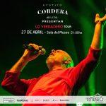Gustavo Cordera – Sábado 27 de abril en la Sala del Museo
